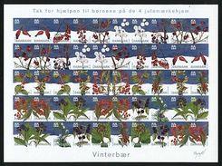 Denmark Christmas Seal 2004 Mnh. Imperforated Sheet.Winter Berries. - Denmark