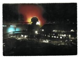18493    CPM  NEUNKIRCHEN  ; Eisenwerk A. G. - Nord Stahlwerk !  ; Carte Photo De Nuit ! - Kreis Neunkirchen