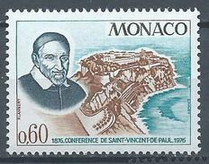 Monaco YT N°1067 Conférence De Saint-Vincent De Paul Neuf ** - Monaco
