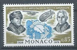 Monaco YT N°1070 Survol Du Pole Nord Neuf ** - Monaco