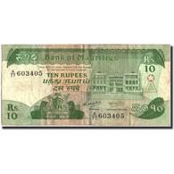 Mauritius, 10 Rupees, Undated (1985), KM:35b, TB - Maurice