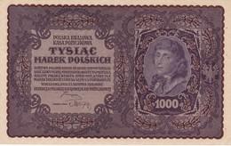 POLAND 1919 1000 Marek II SERJA Y No 770024 Not Folded But Edge Bends - Pologne
