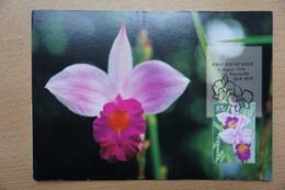 Australia Pws 1998-08-06 Entier Used Scarce Postal Card Orchidea Orchid Flower Fdc Cancell Postmark A 3,50 Euro - Maximumkarten