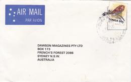 Tonga 1993 Cover Sent To Australia Sea Shell 60s Affixed - Tonga (1970-...)