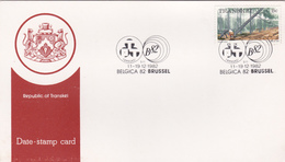 Transkey 1982 Belgica 62 Souvenir Card - Transkei