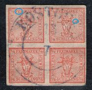 Rostock 13/7 Auf 4/4 Shilling Rot - Meckl. Schwerin Nr. 1 Mit Abart - Pracht - Mecklenburg-Schwerin
