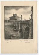 DANDALO  BELLINI     ROMA   CASTEL  SANT' ANGELO  1940     (SCRITTA) - Non Classificati
