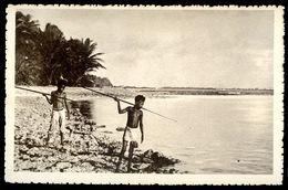 Cpa Océanie Nouvelle Calédonie Carolines Canaques Pêchant    SEP17-28 - Nouvelle-Calédonie