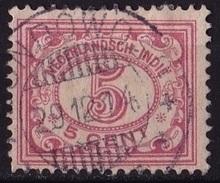 Ned. Indië: Kortebalkstempel BONDOWOSO (149) Op 1912-1930 Cijferserie 5 Cent Roze NVPH 110 - Indes Néerlandaises