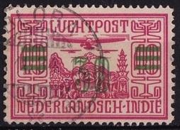 Ned. Indië: Langebalkstempel BLORA (137) Op 1932 LP Met Opdruk 30 Cent In Groen / 10 Ct NVPH LP 12 - Indes Néerlandaises