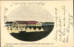 Passepartout Cp Karlstad Schweden, Ständiga Utställningen Med Lanade Tält, Efter Branden 1865 - Suède