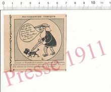 2 Scans Humour 1911 Mendiant Aveugle Naissance Canne Blanche Cul-de-jatte Lustre Chandelle éclairage Cécité Chien 213PF1 - Zonder Classificatie