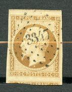 France, Yvert 9, Louis-Napoléon Répub Franc 10c, Oblitéré, Grandes Marges, 2 Voisins, Signé Et Certificat - 1852 Louis-Napoléon