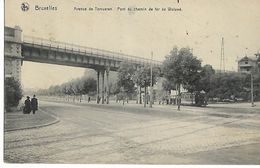 BRUXELLES   AVENUE DE TERVUEREN   PONT DU CHEMIN DE FER DE WOLUWE ( ECRITE  1911 ) - Transport Urbain En Surface