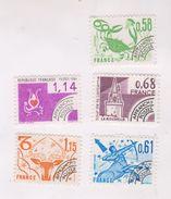 5 Timbres Preobliteres - 1964-1988