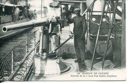 N°55995 -cpa Exercice De Tir à Bord D'un Contre Torpilleur - Warships