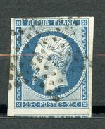 France, Yvert 10, Louis-Napoléon Répub Franc 25c, Oblitéré, 1 Voisin - 1852 Louis-Napoléon
