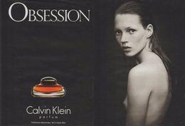 PUBLICITÉ PAPIER- ADVERTISING PAPER OBSESSION CALVIN KLEIN 2 PAGES - Werbung