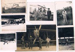 LOT DE 7 PHOTOS DE ROYAN  MEDIS ECOLE DE PILOTAGE 1939 - 1940 AVION AIGLON - Royan