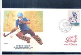 Sports - Hockey - JO 1988 - FDC Argentine - Hockey (sur Gazon)