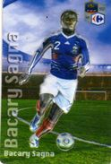 Magnet Magnets Football Carrefour Equipe France En Relief Bacary Sagna - Sports