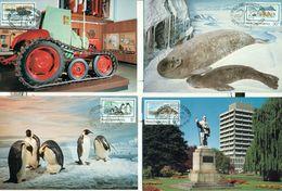 Nouvelle Zelande New Zealand Scott Base 1983 CM Carte Maximum Complete Set Antarctic Antarctique - Cartes-maximum