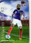 Magnet Magnets Football Carrefour Equipe France En Relief William Gallas - Sports