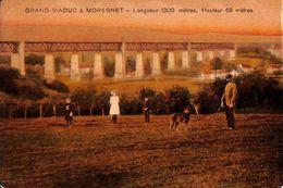 Grand Viaduc à Moresnet (animée, Colorisée, Timbre Taxe, 1921, Verlag Hubert Grümmer) - Plombières