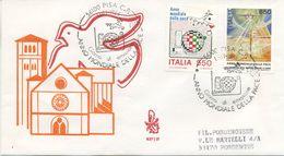 ITALIA - FDC  VENETIA  1986 - ANNO MONDIALE DELLA PACE - ANNULLO MARCOFILO - VIAGGIATA PER PORDENONE - F.D.C.