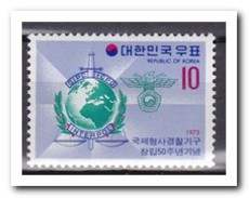Zuid Korea 1973, Postfris MNH, Interpol - Korea (Zuid)