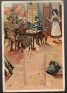 CALENDRIER Cartonné  Illustré Par JOB  (les Feuillets Du Calendrier Ont Disparu, Année Inconnue (fin XIXe??) (CAT 888) - Calendriers