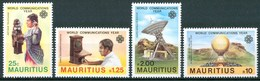 1983 Mauritius Telecomunicazioni Telecommunications Set MNH** - Maurice (1968-...)