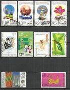 TEN AT A TIME - HONG KONG CHINA - LOT OF 10 DIFFERENT 1 - USED OBLITERE GESTEMPELT USADO - 1997-... Chinese Admnistrative Region