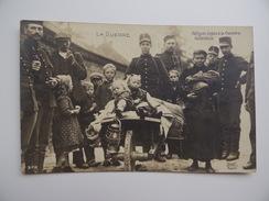 Réfugiés Belges à La Frontière Hollandaise Douanier Douane Correspondance Militaire Guerre 1914 1918 Soldat Infanterie - Sonstige