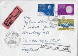 HEIMAT WAADT - 1964 Eilsendung Von Lausanne Nach England - Schweiz