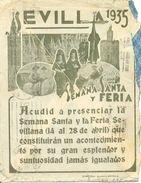 "1935 "" Publicidad  Semana Santa Sevilla"" Carta, Lettre Publicité Semaine Sainte, Ver 2 Scan - 1931-Aujourd'hui: II. République - ....Juan Carlos I"
