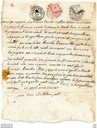 CACHET DE GENERALITE 25 CENTIMES L'AN 6 1797 BONNET MINUTE  PHRYGIEN  ROUGE ET NOIR 2 SOLD - Matasellos Generales