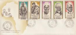 Enveloppe  FDC  1er  Jour   GUINEE     Héros  Et  Martyrs  Africains    1962 - Guinée (1958-...)