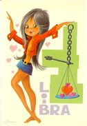 Espagne -  Signe Du Zodiaque  : Libra (Balance) - Illustrateur Asur - C Y Z Barcelona Nº 7807/D - 2185 - Illustrators & Photographers