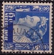Ned. Indië: MUNTOK (465) Op 1934-37 Koningin Wilhelmina 15 Ct Blauw NVPH 197 - Indes Néerlandaises
