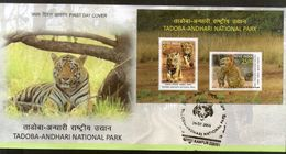 India 2016 Tadoba Andhari National Park Tiger Reserve Wildlife Aninal M/s FDC Inde Indien - FDC