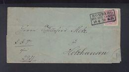 Dt. Reich Faltbrief 1878 Homberg - Deutschland