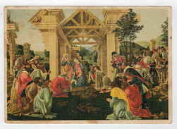 FILIPEPI SANDRO  DETTO IL  BOTTICELLI     L' ADORAZIONE  DEI  MAGI     (VIAGGIATA) - Paintings