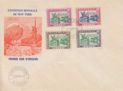 Enveloppe FDC  1er  Jour   GUINEE   Exposition  Mondiale  De   NEW  YORK   1964 - Guinée (1958-...)