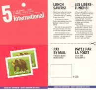 CANADA, 1989, Booklet 113a, $ 3.80, Bear, Lunch Saver - Ganze Markenheftchen