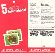 CANADA, 1989, Booklet 113c, $ 3.80, Bear, EMS - Ganze Markenheftchen