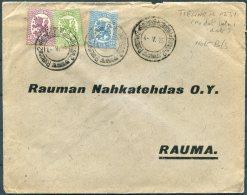 1925 Finland Railway TPO Cover - Rauma - Finland