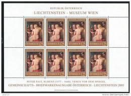 Österreich Mi.Nr. 2519  Kleinbogen Rubens Akt, Venus Vor Dem Spiegel  -MNH - Rubens