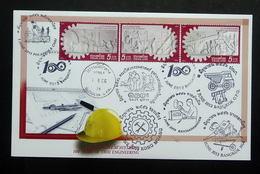 Thailand Stamp FDC 2013 100 Years Thai Engineering +P+C - Thailand