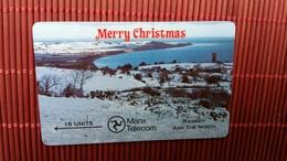 Phonecard Isle Of Man Merry Christmas (Mint,Neuve)  6000 Made Rare - Isle Of Man